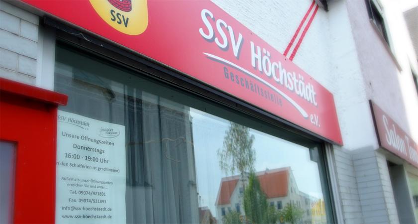 Geschäftsstelle der SSV Höchstädt e. V.